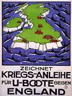 86780 WAR GERMANY UBOAT BATTLESHIP BLOCKADE UK BRITAIN WALL PRINT POSTER DE