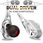 Sport Dual Driver Stereo Super Bass Headset In Ear Earphones Headphones Earbuds
