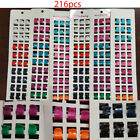 216pcs Mini Mix -Color Plastic Hair Snap Jaw Claw Styling Clip Wholesale Lot