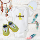 Personalized Name Cute Baby Boy Clothes Onesies Hat / Beanie Shoes - Shower Gift