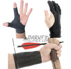 Mens Archery Shooting Glove Finger Arm Guard Traditional Hand Protector Pack New