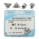 80pcs Dental Orthodontic Buccal Tubes 1st 2nd Molar Tube Bonding MBT Roth 022