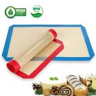 Silicone Baking Mat Heat Resistant Liner Oven Sheet Mats Bakeware - Blue&Red