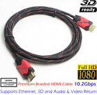 PREMIUM HDMI CABLE 10FT v1.4 1080P BLURAY 3D TV DVD XBOX LCD LED ETHERNET HD Lot