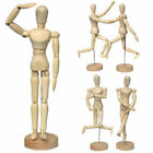 4 Size Wooden Figure Manikin Human Artist Draw Painting Model Mannequin Jointed
