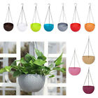 Wall Fence Plastic Hanging Basket Garden Plant Flower Pot Planter With Chain