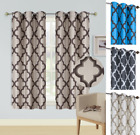 Kyпить 2pc WINDOW CURTAIN BLACKOUT LIGHT BLOCKING GROMMET PANEL MOROCCAN PRINT 36