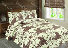 3 Piece Cowhide Cow Print Quilt Rustic Western Bedspread Comforter Bedding Set! image