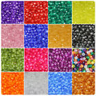 BeadTin Transparent 10mm Faceted Round Craft Beads (210pcs) - Color choice
