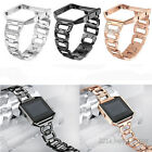 Lady Bling Rhinestone Stainless Steel Watch Wrist Band Strap For Fitbit Blaze image