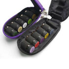 Fashion 10 Bottles Essential Oil Key Chain Case Carry Health 1 Pcs Bag 2ml