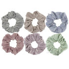 1X Striped Cotton Scrunchies for Women Ponytail Holder Hair Ties Hair Bands