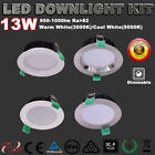RECESSED IP44 13W LED DOWNLIGHT KIT DIMMABLE WARM/COOL WHITE 5 YRS WARRANTY