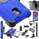samsung note 4 accessories - Shockproof Hybrid Rugged Hard Belt Clip Case Cover For Samsung Galaxy Note 4