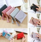 Women's Short Small Wallet Lady Leather Folding Coin Card Holder Money Purse  image