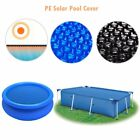 Solar Pool Bubble Cover Floating Rectangular/Round Pool Water Heating Sun Energy