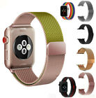 US Stainless Steel Loop Wrist Band for Apple Watch iWatch Series 5 4 3 2 38-44mm image