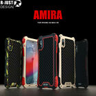 R-JUST Waterproof Shockproof Metal Case Cover For iPhone 11 Pro Xs Max XR 7 8+