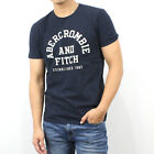 New Abercrombie A&F by Hollister Men Applique Logo Graphic Tee Shirt 100% Cotton