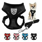 US Mesh Breathable Dog Harness and Leads Pet Puppy Adjustable Leash Vest 3 Sizes