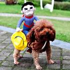 Small Large Pet Dog Riding Cowboy Knight Costumes Coat Halloween Clothes New