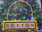 Boston Bruins Christmas Ornament Scrabble Tiles Magnet $8.99 USD on eBay