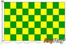 GREEN AND YELLOW CHECK CUSTOM MADE TO ORDER VARIOUS FLAG SIZES