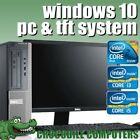 FULL DELL/HP DUALCORE/ i3 / i5 DESKTOP TOWER PC &amp; TFT COMPUTER SYSTEM WINDOWS 10 <br/> WI-FI * OFFICE * KEYBOARD &amp; MOUSE * 1 YEARS WARRANTY