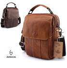 NEW Men's Genuine Leather Cowhide Shoulder Bag Messenger Satchel Tablet Handbag