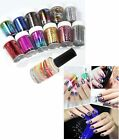 Used, 12 Colors Nail Art Transfer Foil Sticker & Glue Set for Nail Tips Decoration for sale  USA