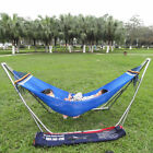 Hammock With Stand Garden Outdoor Lounger Swing Chair Steel Metal W/ Carry Bag