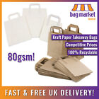 Brown & White Kraft Paper Bags! | Takeaway/SOS/Party/Lunch/Biodegradable/Carrier