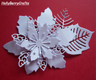 "TATTERED LACE CHRISTMAS, FLORAL, FLOWER DIE CUT TOPPERS ~ ""LAVISH POINSETTIA"""