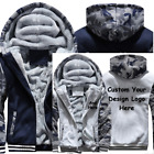 Winter Thicken Hoodie Team Football Baseball Custom Warm Sweatshirt Lacer Zipper