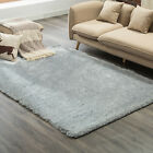 Kenwell Modern Area Rug Contemporary Abstract Solid Flokati Shaggy Carpet