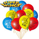 SUPERWINGS BIRTHDAY BALLOON CUPCAKE TOPPER PARTY DECORATION SUPER WINGS BANNER
