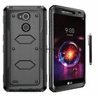 For LG X Charge/Fiesta LTE Shockproof Hybrid Impact Hard Armor Phone Case Cover