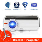 CAIWEI A9 Android Home Theater Projector Bluetooth 5000lumen HDMI HD 1080p Stand