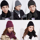 2018 Women Men Knitted Beanie Hut & Touch screen Gloves & Scarf Set Warm Warm US