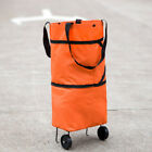 Trolley Folding Shopping Bag with Wheels Foldable Rolling Cart