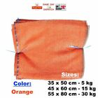 ORANGE RASCHEL NET SACK BAGS MESH FRUITS VEGETABLES WOOD LOGS CARROT ONION POTAT