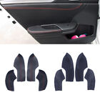 4X Door Armrest Sleeve Cover Trim Leather Shell for Honda Civic 10th 2016-2018