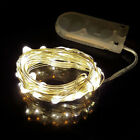 Hot 10- 30LEDs Waterproof LED MICRO Silver Copper Wire String Fairy Lights Decor