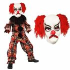 Kids Boys Deluxe Scary Creepy Killer Circus Clown Halloween Jumpsuit Costume