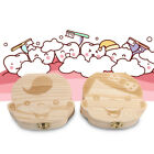 Wooden Kids Baby Tooth Box Organizer Milk Teeth Wood Storage Box for Boys Girls