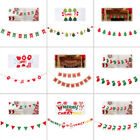 2018 Xmas Christmas Tree Hanging Flag Banner Ornament Gift H
