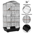 "36''53""60""Large Bird Cage Play Top Parrot Finch Cage Cockatoo Macaw Pet House"