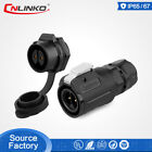 LINKO Waterproof IP67 Power Connector M16 2Pin Panel Socket 10A Easy To Operate