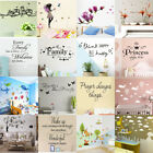 Removable Wall Stickers Letter Plant Modern Art Vinyl Mural