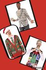 NWT Faux Real Ugly Christmas Sweater NOEL Vest Long Sleeve Shirt Money M XL XXL
